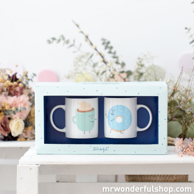 Conjunto de 2 canecas - And together they had breakfast happily ever after (ENG)