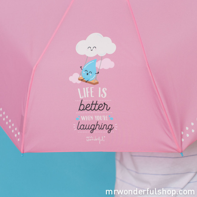 Medium umbrella - Life is Better when you're laughing (ENG)