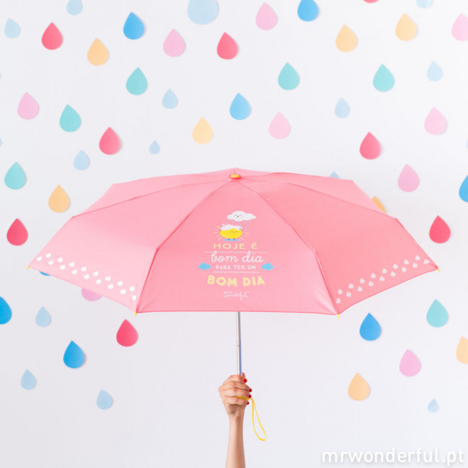 Guarda-chuva pequeno - Hoje é bom dia para ter um bom dia (PT)