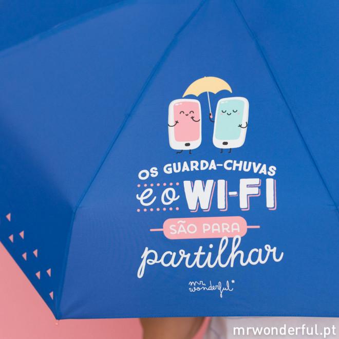 Guarda-chuva pequeno - Os guarda-chuvas e o Wi-Fi são para partilhar (PT)