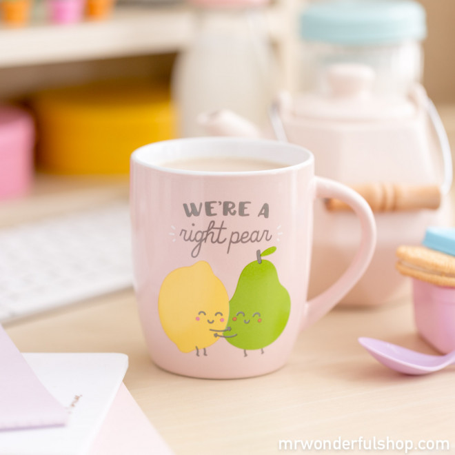"Caneca ""We're a right pear"" (ENG)"