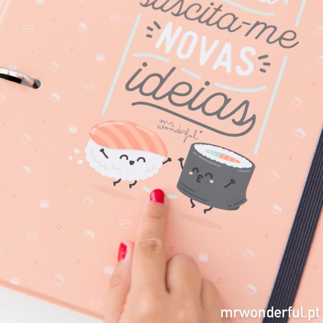 Dossier com argolas - Este dia suscita-me novas ideias (PT)