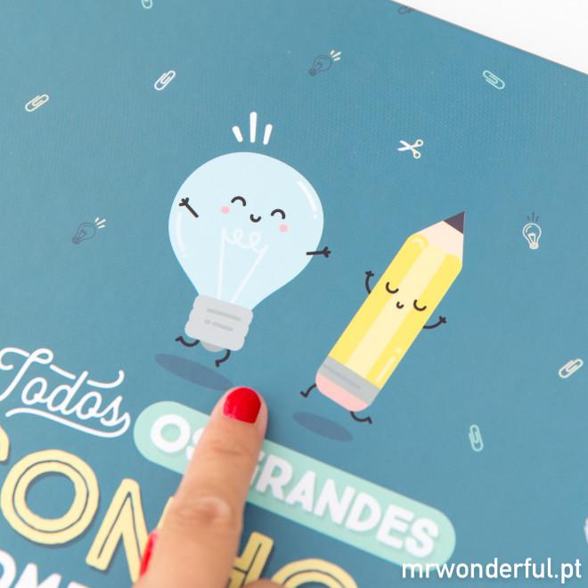 Caderno grande - Todos os grandes sonhos começam com uma pequena ideia (PT)