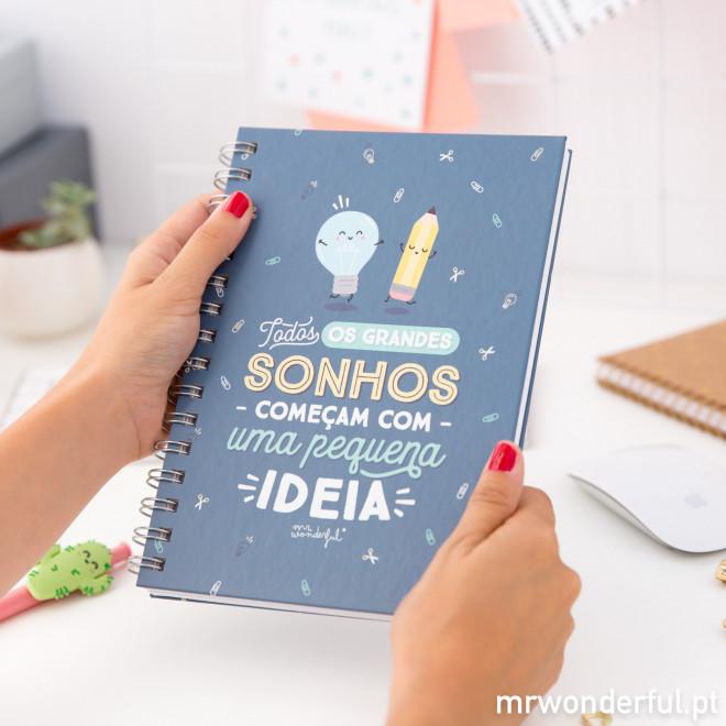 Caderno - Todos os grandes sonhos começam com uma pequena ideia (PT)
