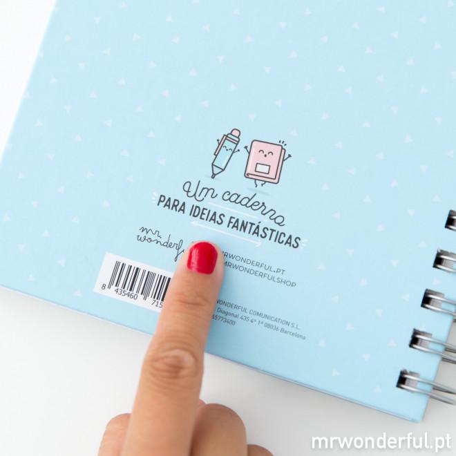 Caderno - Hoje vai ser um dia maravilhoso porque... (PT)