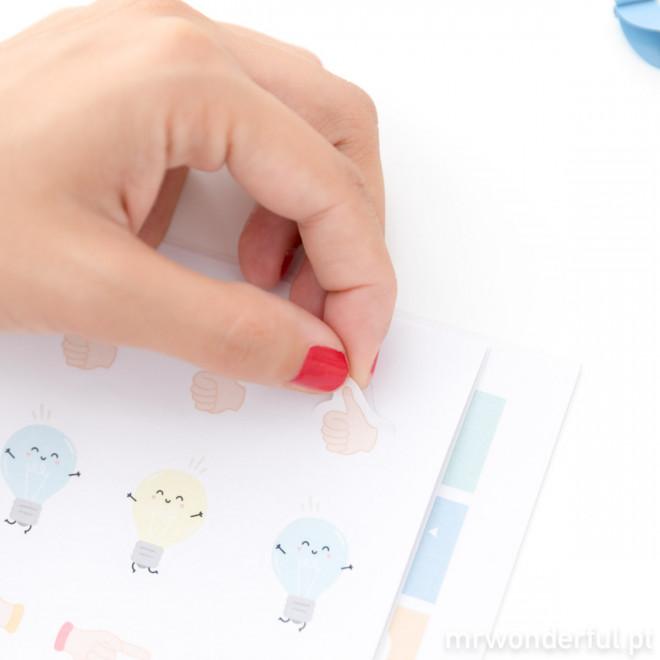 Caderno de etiquetas para apontamentos nada aborrecidos (PT)
