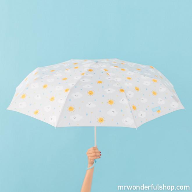 Guarda-chuva médio cinza - Estampagem de nuvem