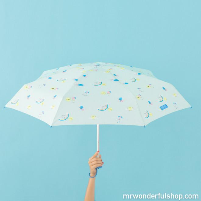 Guarda-chuva pequeno mint - Estampagem de arco-íris
