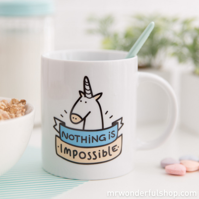 "Caneca ""Nothing is impossible"" (ENG)"