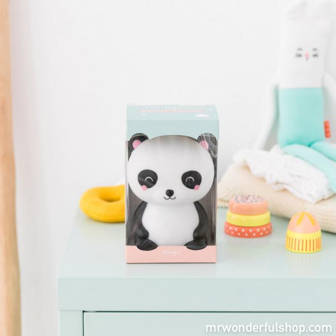 Luz mágica para sonhos cor-de-rosa - Urso panda