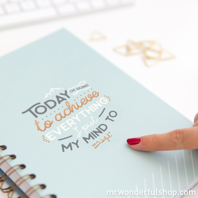 Caderno - Today I'm going to achieve everything (ENG)