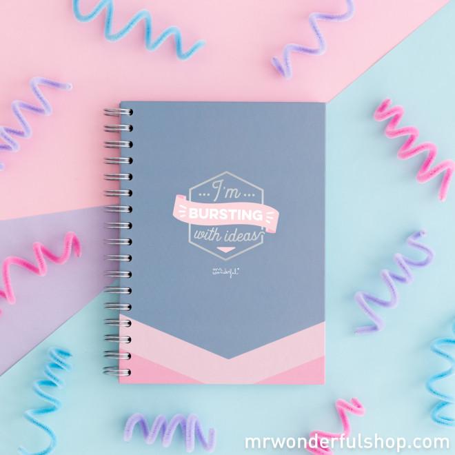 Caderno - I'm bursting with ideas