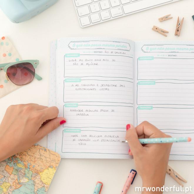 Caderno de viagem - À descoberta dos meus novos lugares preferidos (PT)