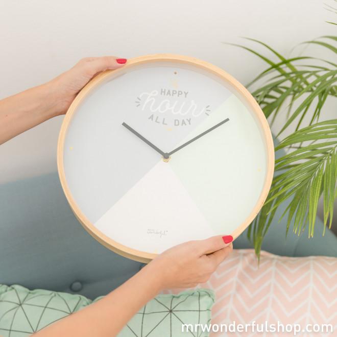 Relógio de parede - Happy hour all day (ENG)