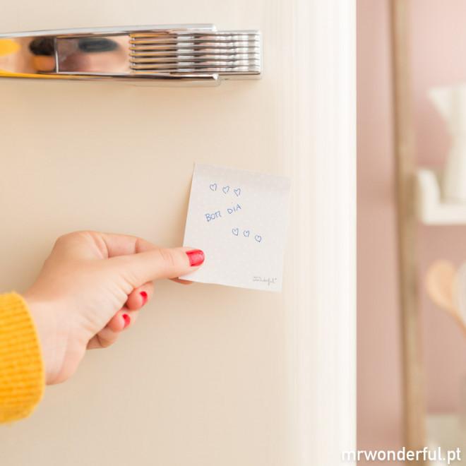 Bloco magnético de notas adesivas - Oxalá gostar tanto das tarefas como gosto de ti (PT)