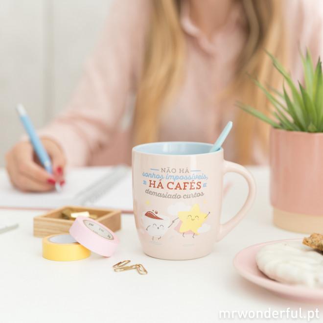 Caneca - Não há sonhos impossíveis, há cafés demasiado curtos (PT)
