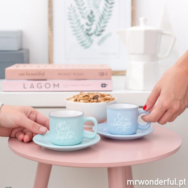 Conjunto de 2 chávenas - Café duplo, só contigo (PT)