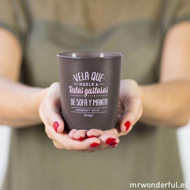 Vela que huele a ratos gustosos - Coconut Milk