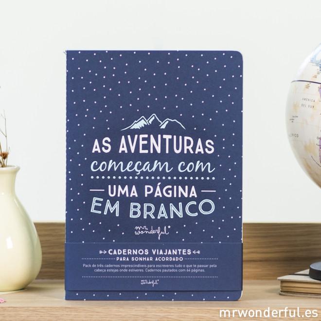 """Cadernos """"Cadernos viajantes para sonhar acordado"""" (PT)"""