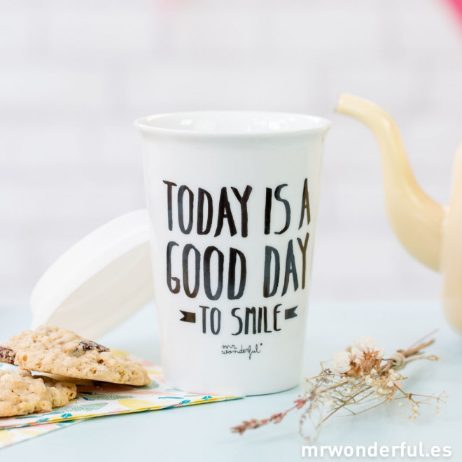 """Copo take away """"Today is a good day to smile"""" (ENG)"""