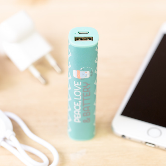 Power bank - Peace, love & battery (2.600 mAh)