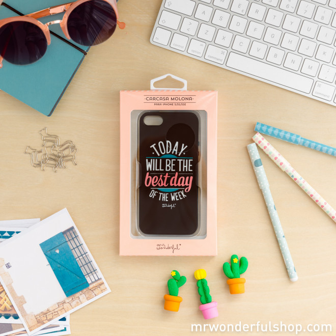 Capa preta para iPhone 5/5S/5SE- Today will be the best day of the week (ENG)