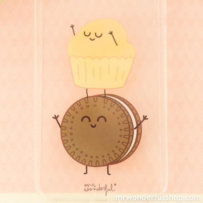Capa transparente para iPhone 5/5S/5SE – Muffin