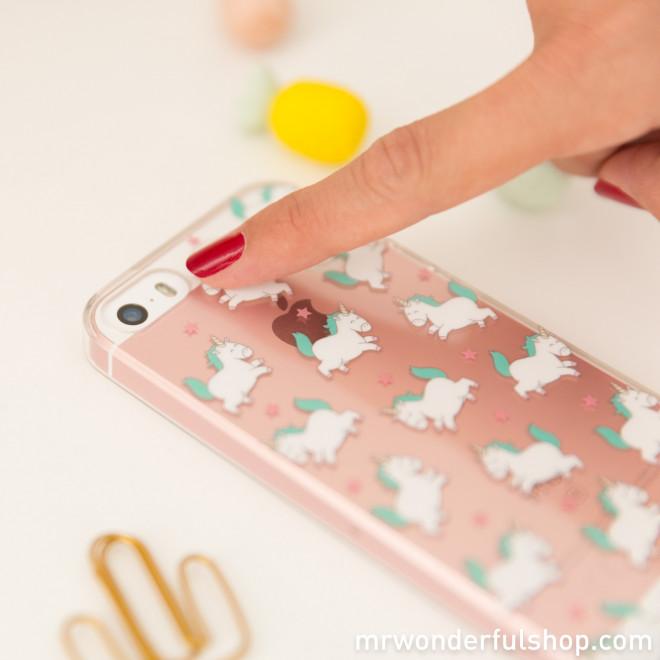Capa para iPhone 5/5S - Unicórnios