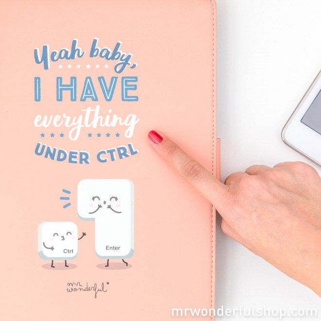 "Capa para tablet  9,7"" a 10,1"" - Yeah baby, I have everything under CTRL (ENG)"