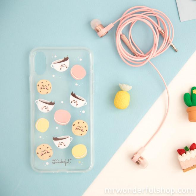 Capa transparente para iPhone X – Pequeno-almoço