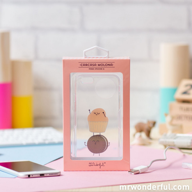 Capa transparente para iPhone 6 – Muffin