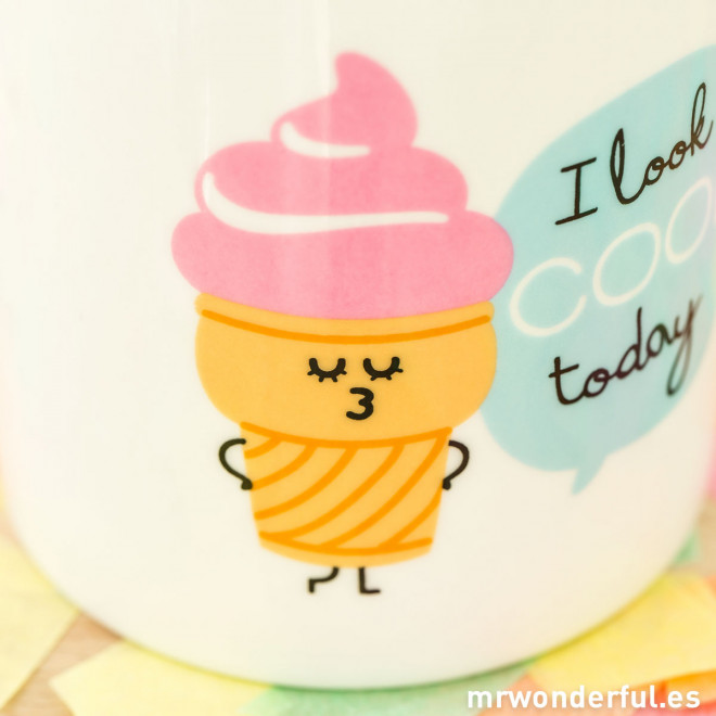 "Caneca ""I look cool today"" (ENG)"
