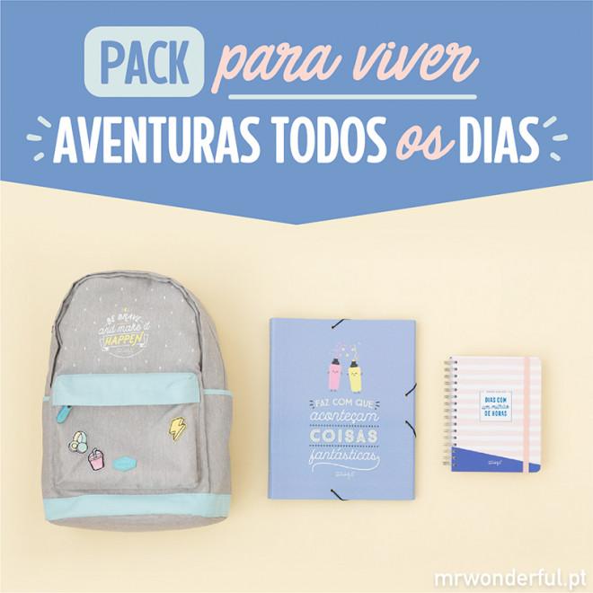 Pack para viver aventuras todos os dias