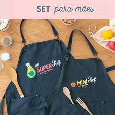 Set para mamãs que são divinas, também na cozinha