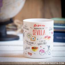 Caneca Lovely Streets - Lo que me enamora de Sevilla