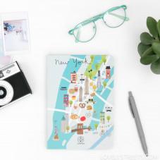 Libreta con ilustraciones de Nueva York