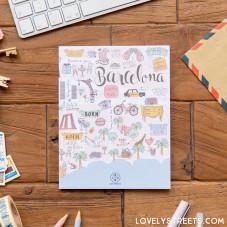 Caderno Lovely Streets - Mapa de Barcelona