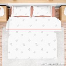 Jogo de lençóis cama de 150 cm - Good morning everyone