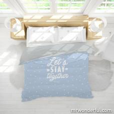 Capa de edredão para cama de 150cm - Good morning everyone