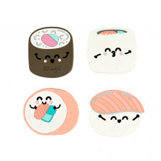Set of four coasters full of great vibes - Sushi