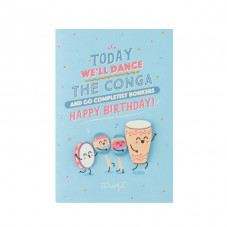 Birthday card - Today we'll dance the conga