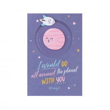 Greeting card - I would go all around the planet with you