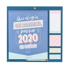 Calendário familiar - Que alegria, que maravilha, passar 2020 em família!