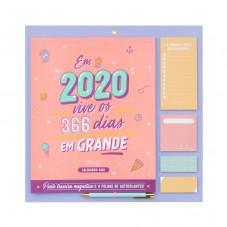 Calendário de parede 2020 - Em 2020, vive todos os dias em grande