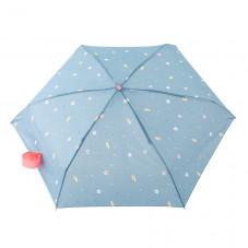 Paraguas pequeño azul - Estampado planetas