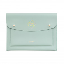 Green double wristlet - Today is the day
