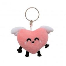 Porta-chaves peluche - Coração alado