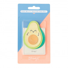 Porta-cartões adesivo para smartphone - Abacate