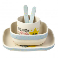 Louça de bambu para bebés Mr. Wonderful x Saro - A estrela