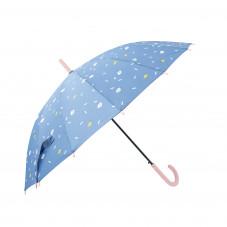 Guarda-chuva grande roxo - Estampado com nuvens